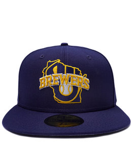 NEW ERA BREWERS STATE LOGOS 59FIFTY FITTED HAT