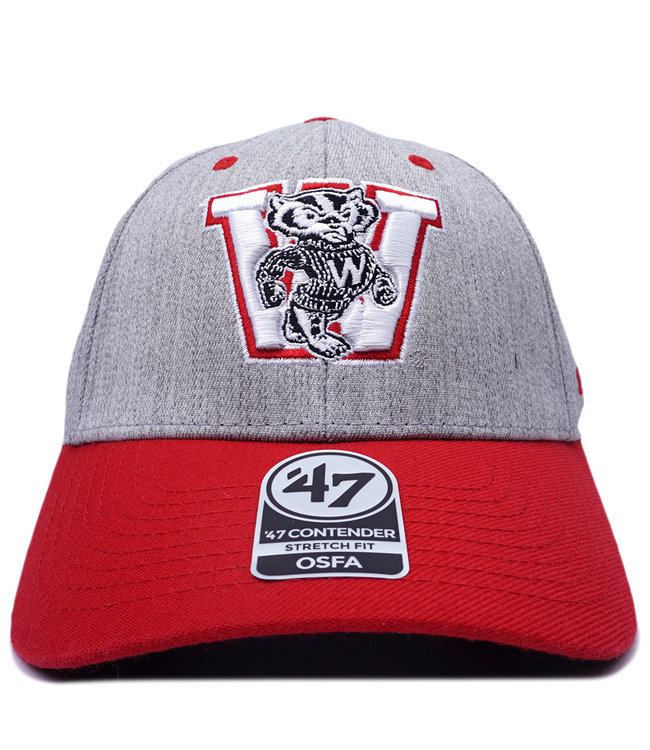 '47 BRAND Badgers Contender Stretch Fit Hat