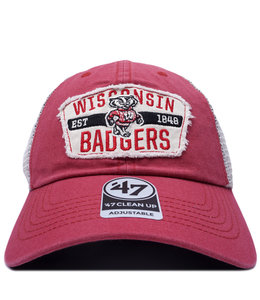 '47 BRAND BADGERS CRAWFORD CLEAN UP HAT
