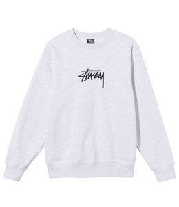 STUSSY STOCK EMBROIDERED CREW