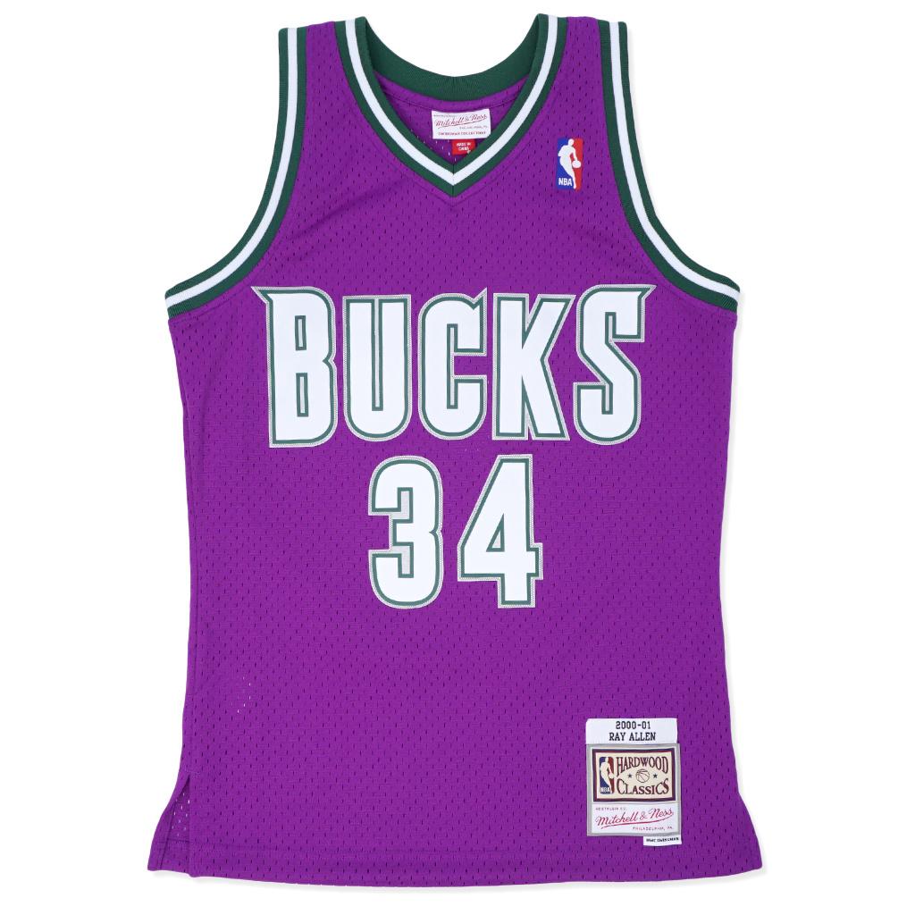 Mitchell & Ness Milwaukee Bucks Ray Allen 2000-01 Swingman Jersey