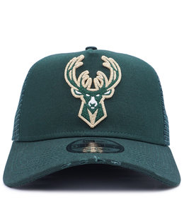 NEW ERA BUCKS TORN TRUCKER HAT