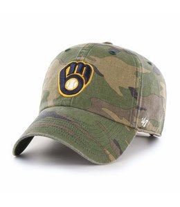 '47 BRAND BREWERS CAMO CLEAN UP HAT