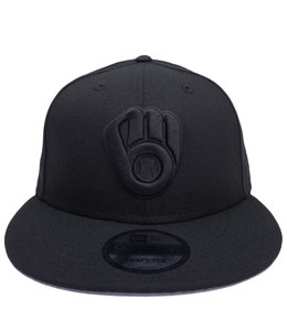 NEW ERA BREWERS BASIC BLACKOUT 9FIFTY SNAPBACK