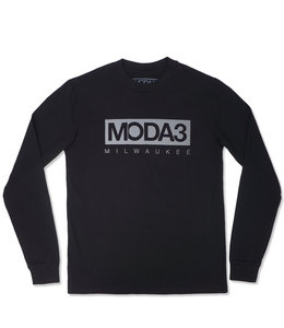 MODA3 BOX LOGO REFLECTIVE LONG SLEEVE TEE