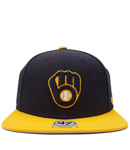 '47 BRAND BREWERS YOUTH LIL SHOT CAPTAIN SNAPBACK
