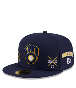 NEW ERA BREWERS MULTI LOGO 59FIFTY FITTED HAT