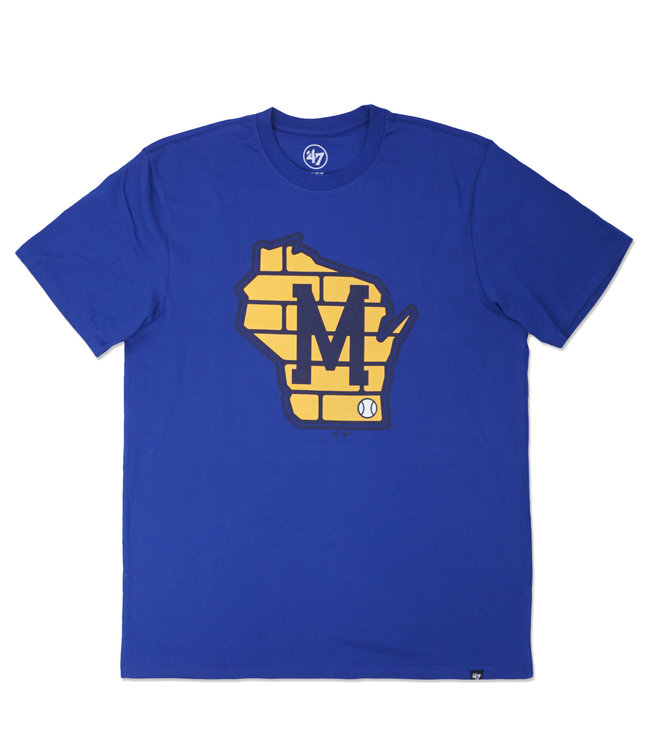 '47 BRAND Brewers Imprint Super Rival Tee