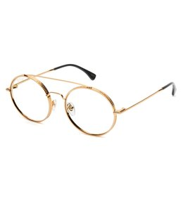 9FIVE 50-50 XL ROUND CLEAR LENS GLASSES