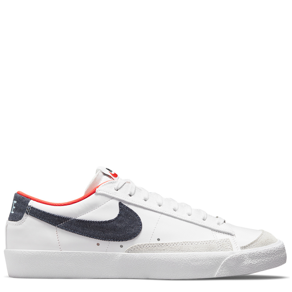 Nike Blazer Low '77 Vintage - White/Midnight Navy-Chile Red