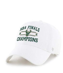 '47 BRAND BUCKS 2021 NBA CHAMPIONS CLEAN UP HAT