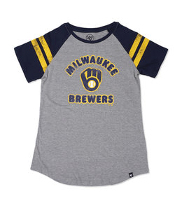 '47 BRAND BREWERS WOMEN'S FLY OUT RAGLAN TEE