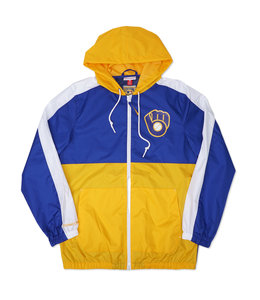 MITCHELL AND NESS BREWERS GAMEDAY WINDBREAKER JACKET