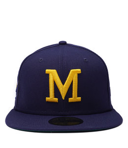 NEW ERA BREWERS 70'S COUNTY STADIUM PATCH 59FIFTY FITTED HAT