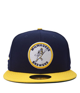 NEW ERA BREWERS BARRELMAN CIRCLE 59FIFTY FITTED HAT
