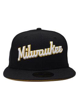 NEW ERA BREWERS MILWAUKE SCRIPT 59FIFTY FITTED HAT
