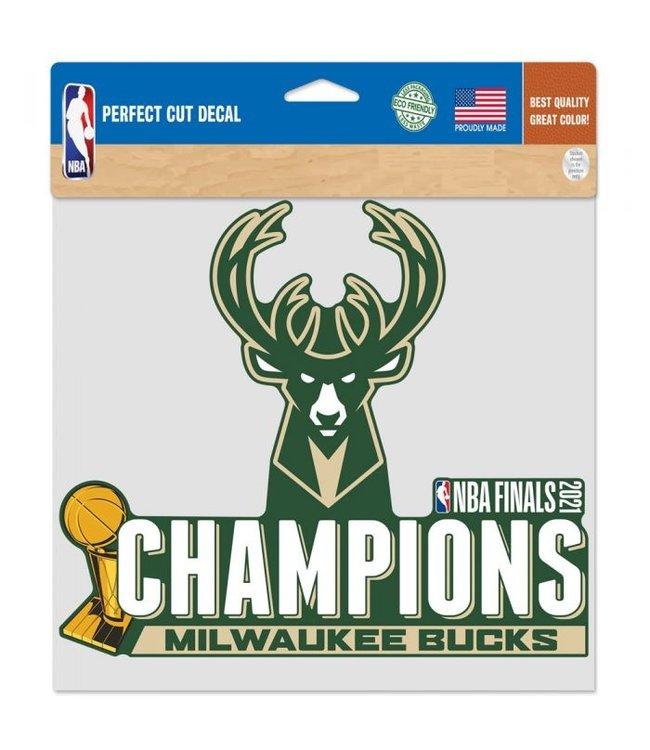 "WINCRAFT Bucks 2021 NBA Champions 8""x8"" Decal"