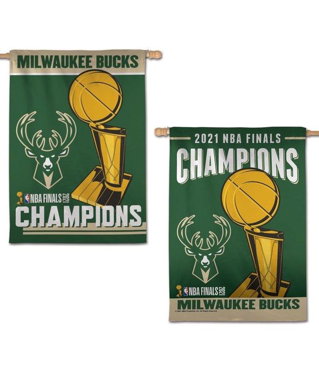 WINCRAFT Bucks 2021 NBA Champions Vertical Flag