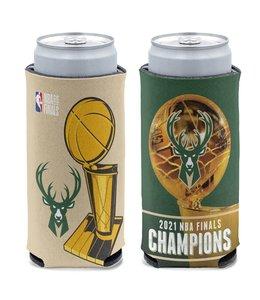 WINCRAFT BUCKS 2021 NBA CHAMPIONS SLIM CAN COOLER