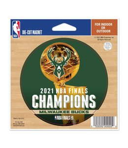 WINCRAFT BUCKS 2021 NBA CHAMPIONS DIE-CUT MAGNET