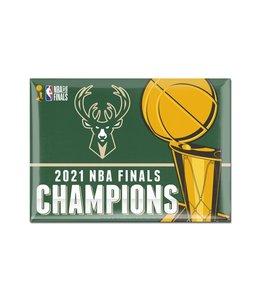 WINCRAFT BUCKS 2021 NBA CHAMPIONS METAL MAGNET