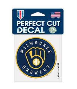 """WINCRAFT BREWERS CIRCLE 4""""x4"""" DECAL"""