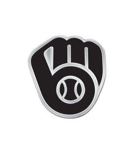 WINCRAFT BREWERS GLOVE CHROME AUTO EMBLEM