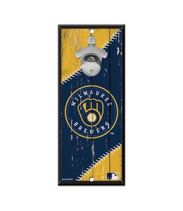 WINCRAFT BREWERS BOTTLE OPENER SIGN