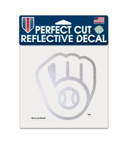 """WINCRAFT BREWERS REFLECTIVE 6""""x6"""" DECAL"""