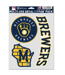 WINCRAFT BREWERS MULTI-USE DECAL SET