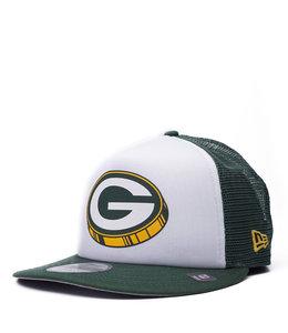 NEW ERA PACKERS FOAM TRUCKER 9FIFTY SNAPBACK HAT
