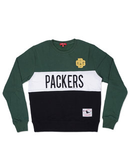 MITCHELL AND NESS PACKERS WOMEN'S COLORBLOCK CREW 2.0