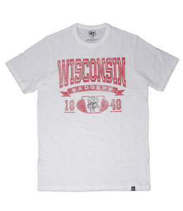 '47 BRAND BADGERS ARCHED BANNER SCRUM TEE