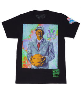 MITCHELL AND NESS BUCKS RAY ALLEN DRAFT DAY COLORWASH TEE