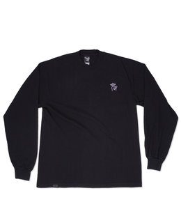 THE QUIET LIFE SHHH EMBROIDERY LONG SLEEVE TEE