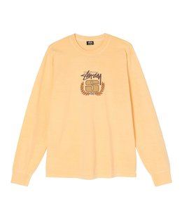 STUSSY S WREATH PIGMENT DYED LS TEE