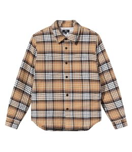 STUSSY QUILTED LINED PLAID SHIRT