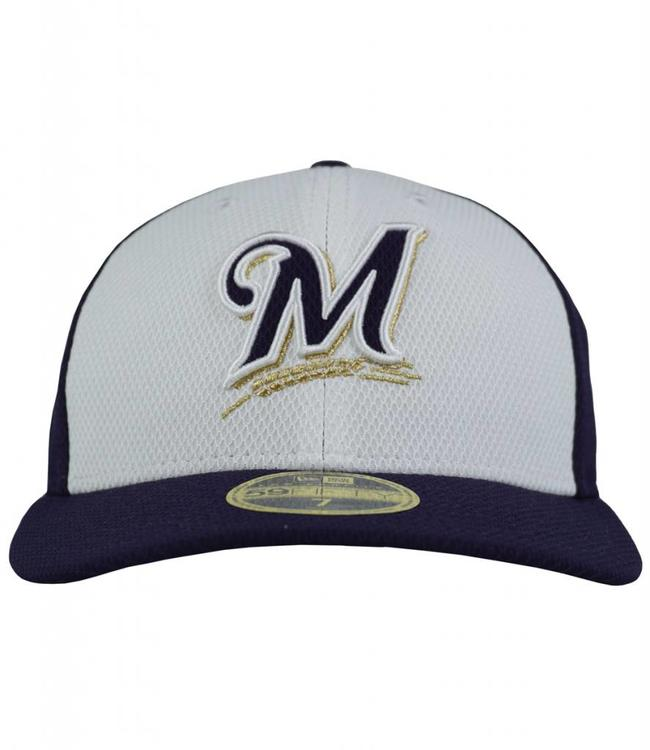 NEW ERA MILWAUKEE BREWERS PRACTICE DIAMOND FITTED HAT