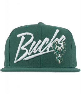 MITCHELL AND NESS BUCKS VICE SCRIPT SNAPBACK