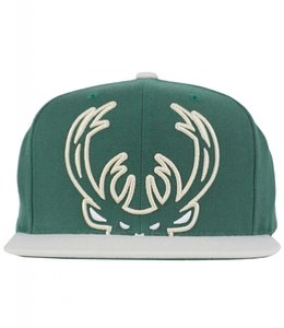 MITCHELL AND NESS BUCKS CURRENT CROPPED XL SNAPBACK
