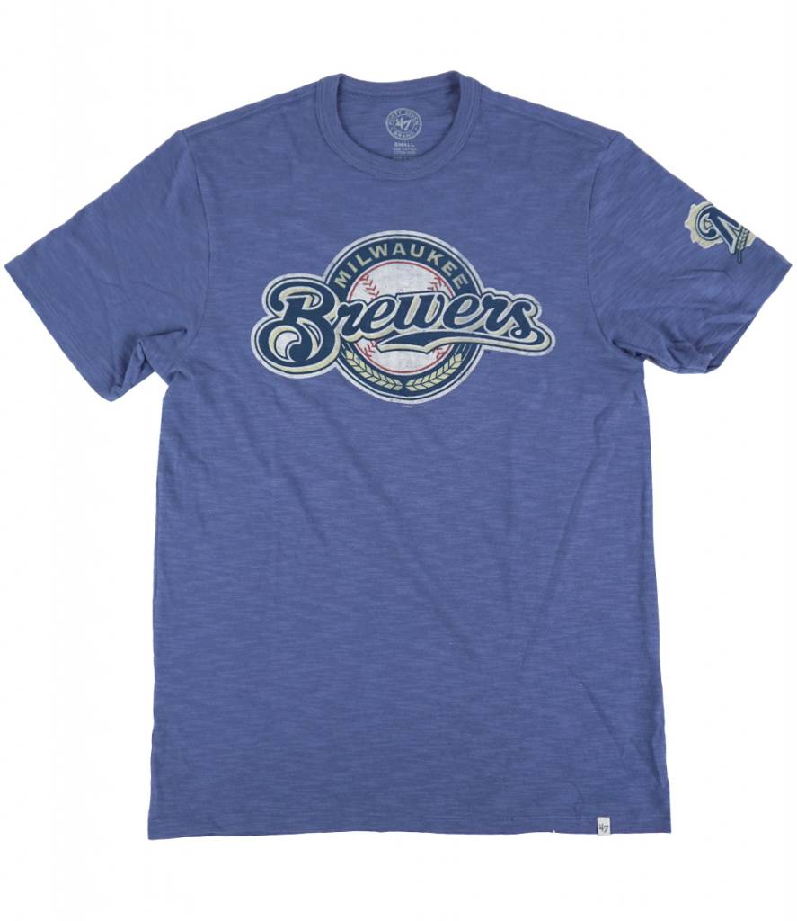 47 Brand Milwaukee Brewers Scrum Barrelman T Shirt Blue Moda3