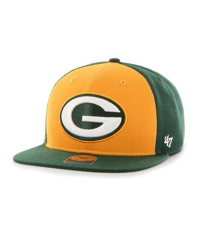 Nice 47 Brand Green Bay Packers Super Move Captain Strapback Hat Green