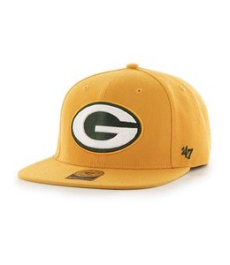 b8f4efca 47 Brand Green Bay Packers Fulton Captain Strapback Hat - Black - MODA3