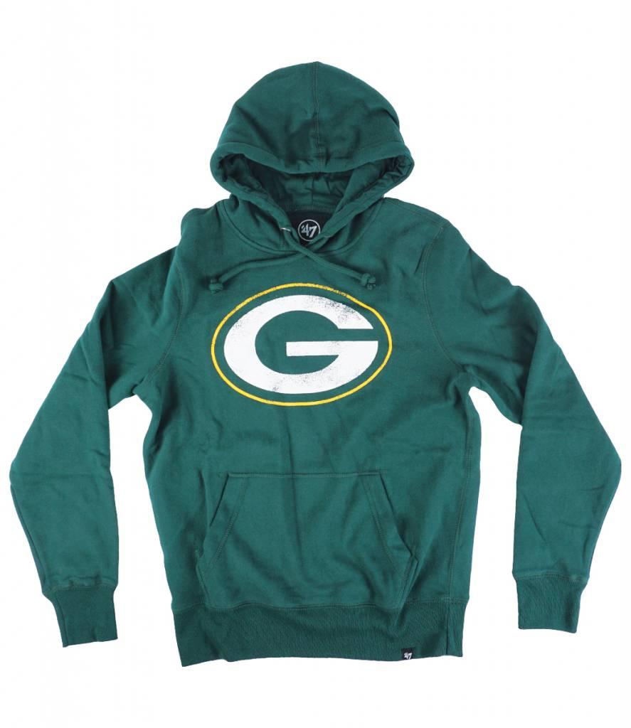 a7475149 '47 Brand Green Bay Packers Knockaround Headline Pullover Hooded Sweatshirt  - Dark Green