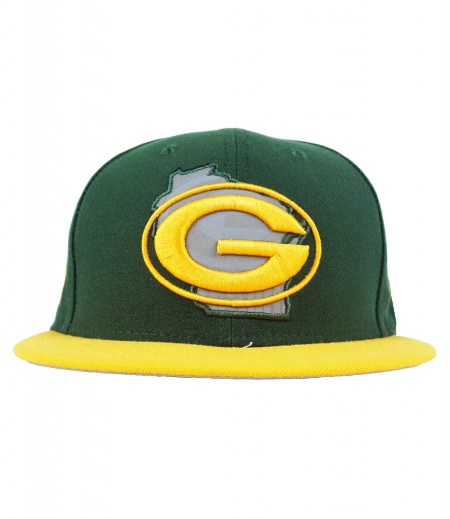 0ac483d6 New Era Green Bay Packers State Reflective Fitted Hat - Green