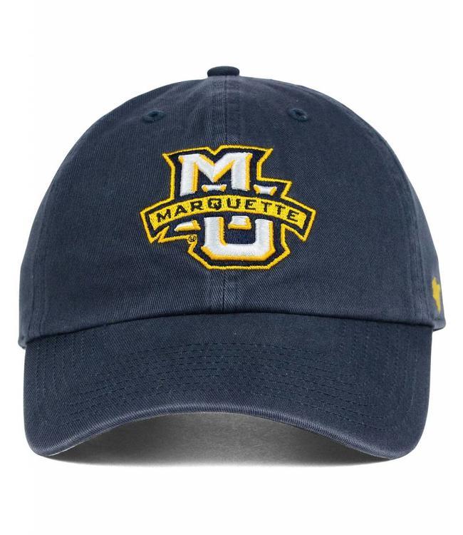 '47 BRAND MARQUETTE GOLDEN EAGLES CLEAN UP STRAPBACK HAT