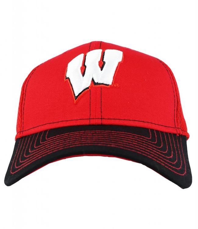 New Era Wisconsin Badgers Team Classic Hat - Red Black - MODA3 f2c20d1896a