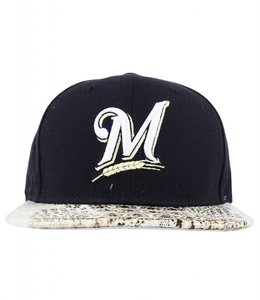 NEW ERA MILWAUKEE BREWERS CROC CANVAS SNAPBACK