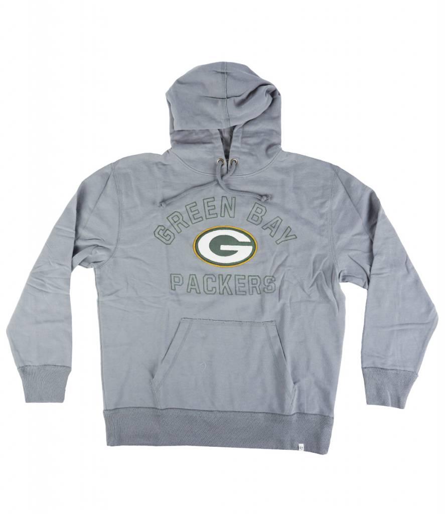a665eb97 '47 Brand Green Bay Packers Striker Pullover Hooded Sweatshirt - Grey