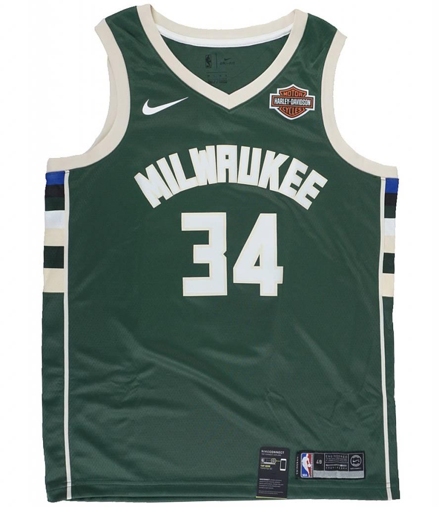 newest b0c7b 692ef Nike Milwaukee Bucks Giannis Antetokounmpo Icon Swingman Jersey - Fir Green